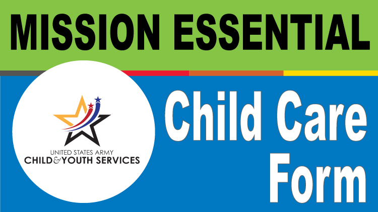 Mission Essential Child Care Form