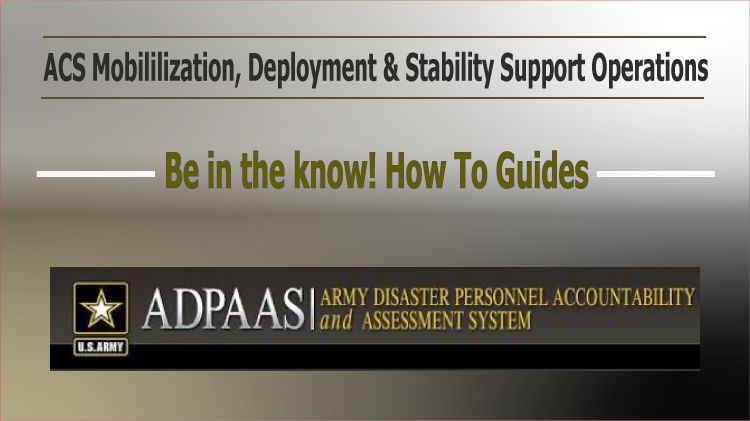 ADPAAS How to Guides